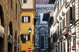 Histroical Houses Facades in Florence, Italy