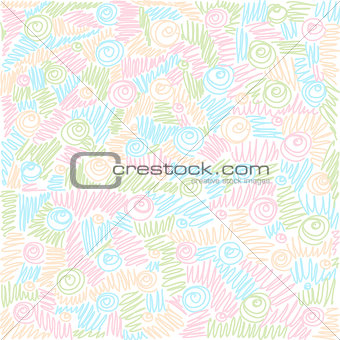 Colorful background. Vector doodles