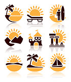 Icons of summer activities