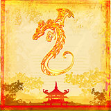 card of year of the dragon 