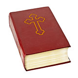 Holy bible book on white background