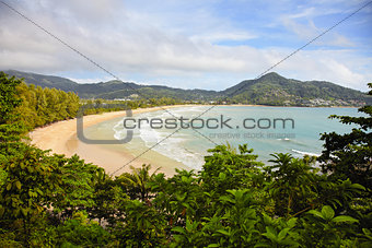 Tropical ocean with the beach - Thailand, Phuket, Kamala