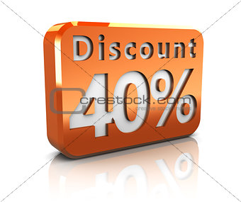 forty percent discount