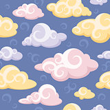 abstract seamless pattern with clouds