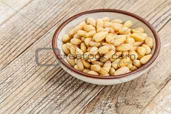 bowl of pine nuts