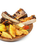 Barbecue Pork Ribs and Roasted Potato
