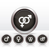 Buttons with combinations of male and  female symbols.