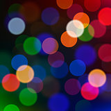 Defocused Christmas lights, vector blur background.