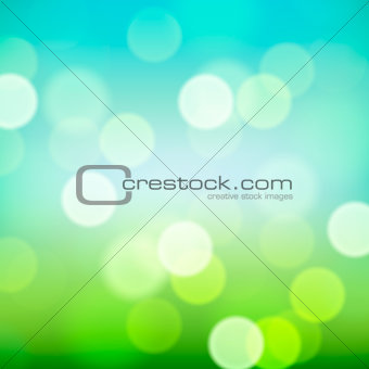 Bright colorful blurred natural background, vector illustration.