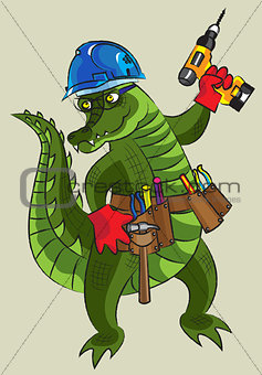 Happy crocodile - builder