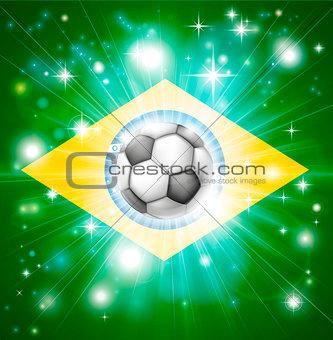 Brazil soccer flag