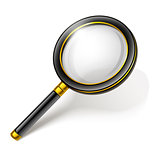 loupe magnifying glass tool isolated