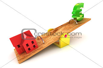 Housing Debt Euro Illustration
