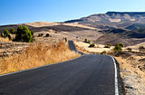 asphalt road in Andalucia