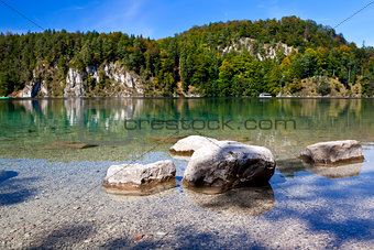 stones in Alpsee