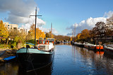 sunny canal in Groningen