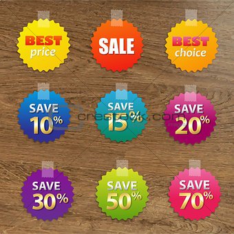 Big Colorful Sale Tags