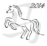 Vector horse 2014