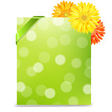 Yellow Gerber And Blank Gift Tag