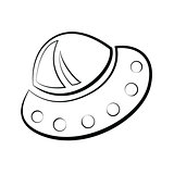 Illustration of flying saucer