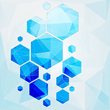 technology polygonal cell background
