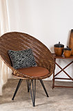 Brown rattan Chair in interior setting