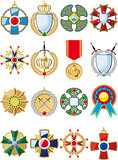 set of various conceptual medals