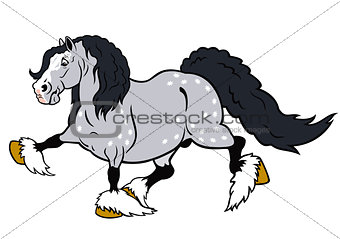 cartoon draft horse