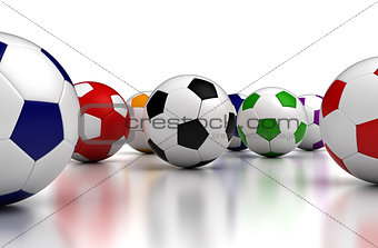 Colorful Soccer Balls