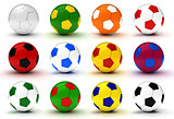 Colorfull Soccer Balls