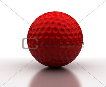 Red Golf Ball