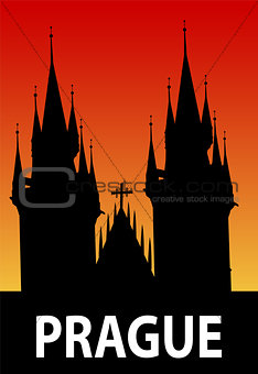 Prague illustration - vector