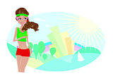 Girl running