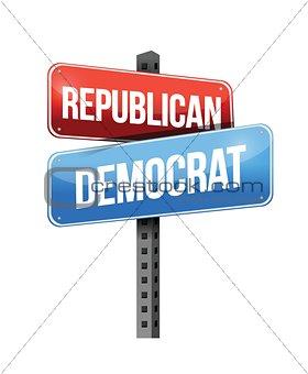 republican, democrat