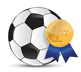 soccer ball with award