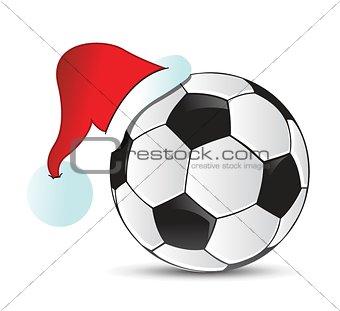 Soccer Santa Cap