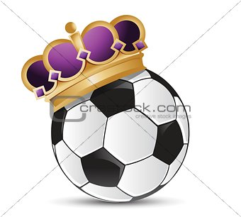 soccer ball with a crown
