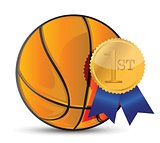 Basketball ball with award