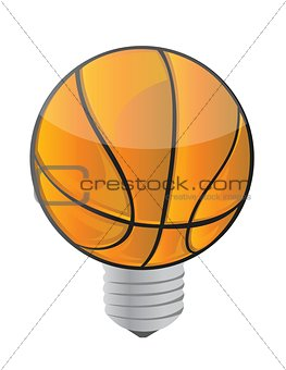 lightbulb Basketball ball
