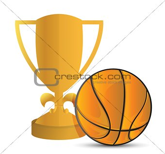 Gold Trophy Cup Basketball