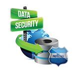 data security global communications concept