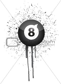 ink splatter eight ball