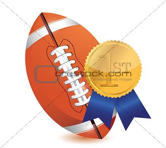 Football ball with award