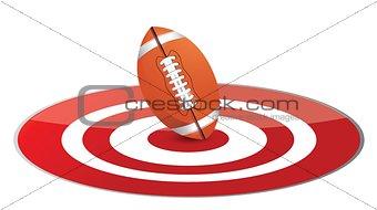 Football ball target concept