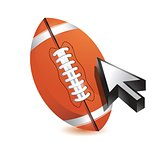 Football ball with cursor arrow - sport shopping