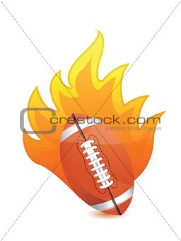 Football Ball in fire