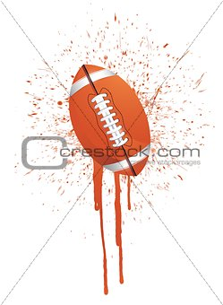 ink splatter football
