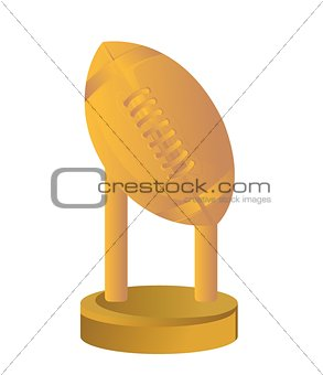 Gold Trophy Cup Football