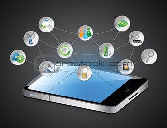computer tablet app symbols