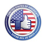 like hand USA button
